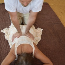 Lumbar palm compression and release